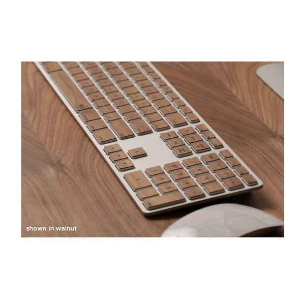 Dřevěný skin pro klávesnici Apple Extended, ořech