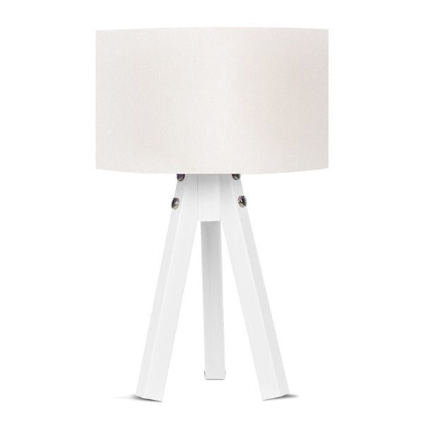 Stolní lampa s bílým stínítkem Kate Louise Bianca