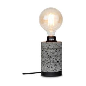 Šedá stolní lampa z lávového kamene Good&Mojo Galapagos, výška20cm