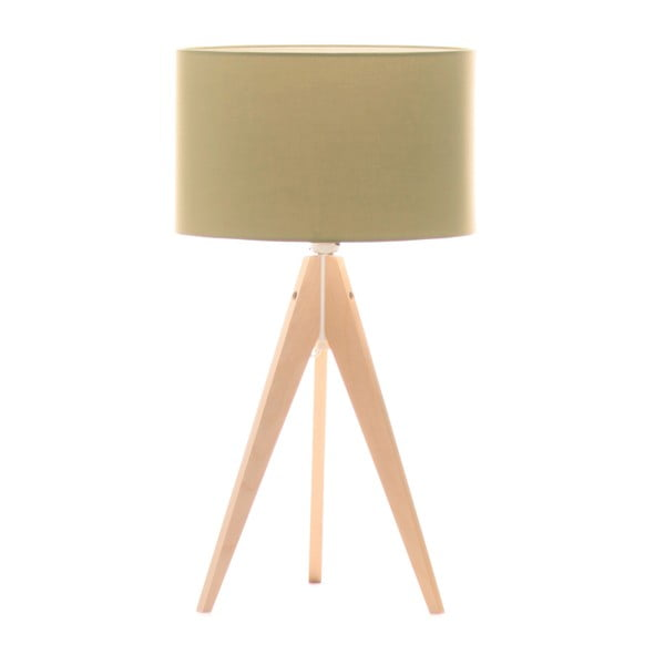 Stolní lampa Artist Mint/Birch, 40x33 cm