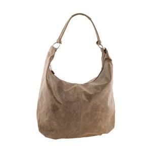 Šedohnědá kožená kabelka Ore Diece Zinnia