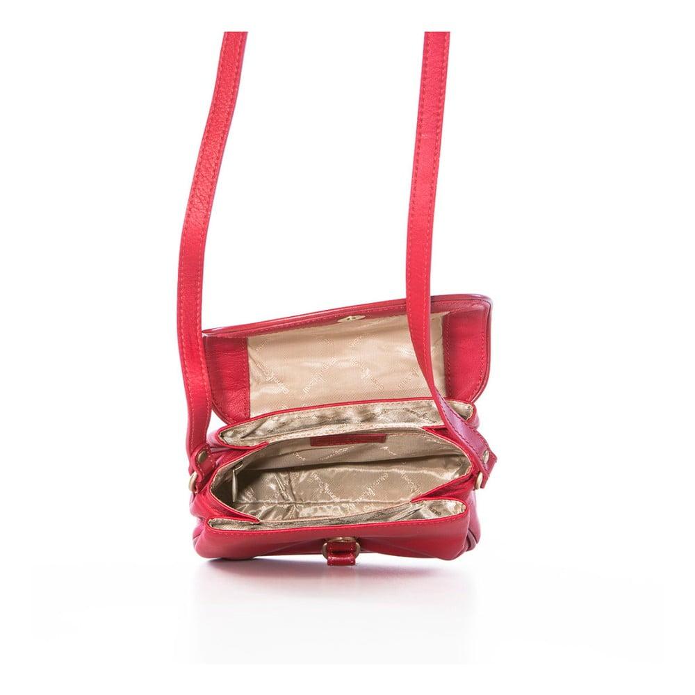 ... Červená kožená kabelka Gianni Conti Adreanna ... 5b829c865d1