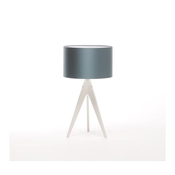 Modrá stolní lampa 4room Artist, bílá lakovaná bříza, Ø 33 cm