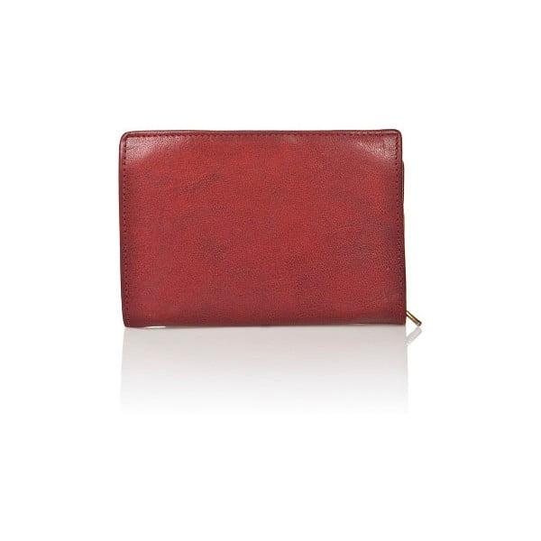 Červená dámská peněženka ztelecí kůže Medici of Florence Marina