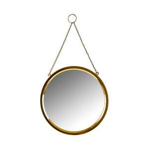 Kruhové nástěnné zrcadlo ve zlaté barvě Villa Collection