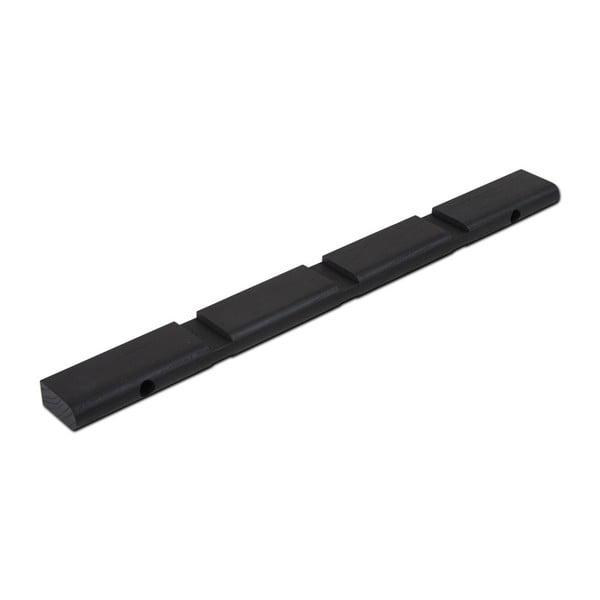 Černá nástěnná lišta WOOD AND VISION Less, délka 48 cm