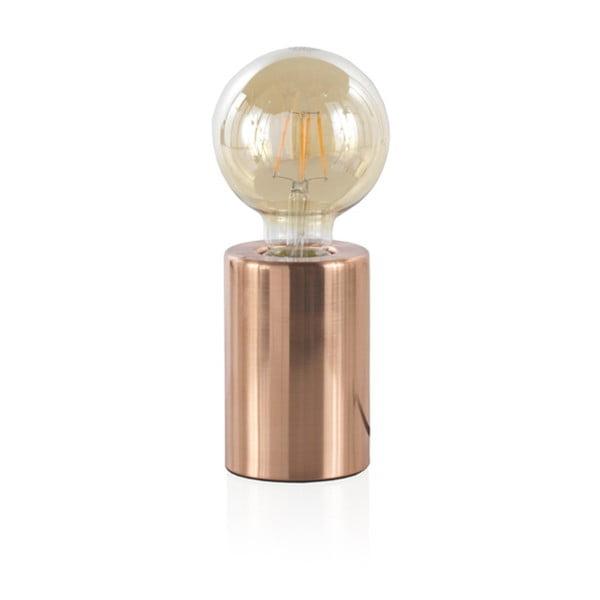Rézszínű fém asztali lámpa, magasság 12 cm - Geese