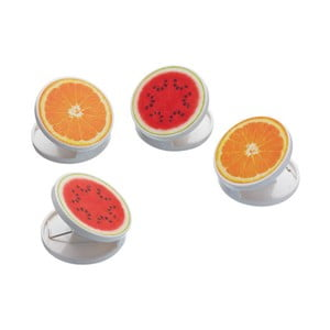 Sada 4 magnetických kolíčků Kitchen Craft Healthy Eating