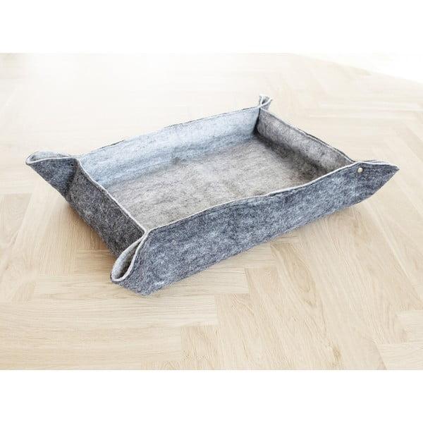 Sivý plstený pelech z vlny pre domáce zvieratá Wooldot Felt Pet Mat, 60 x 40 cm