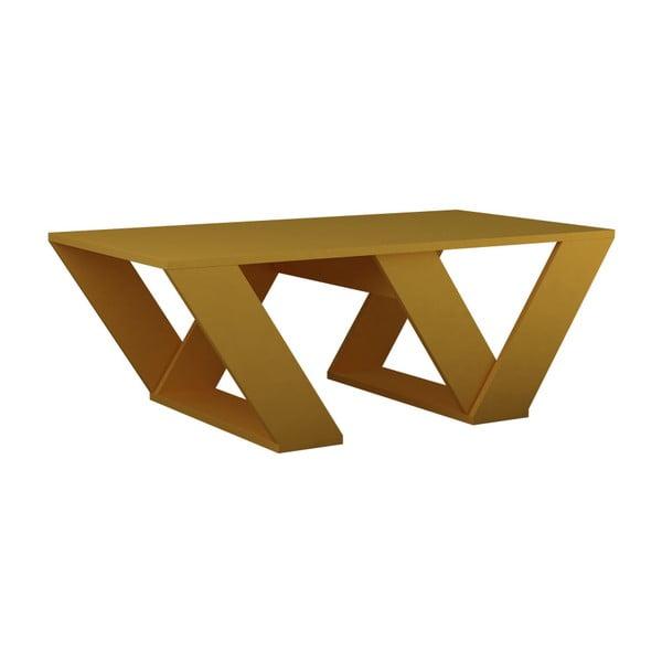 Horčicovožltý konferenčný stolík Homitis Pipra