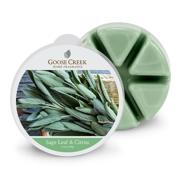Vonný vosk do aromalampy Goose Creek Šalviové listy a citrusy, 65 hodín horenia