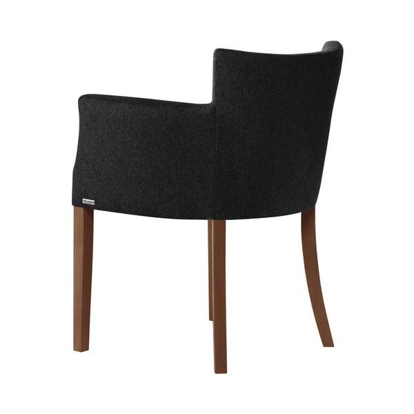 Černá židle s tmavě hnědými nohami z bukového dřeva Ted Lapidus Maison Santal