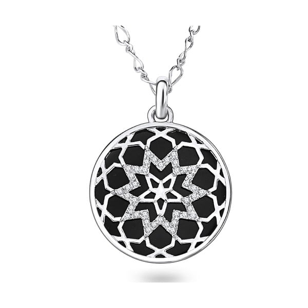 Náhrdelník so Swarovski Elements Saint Francis Crystals Face Stone