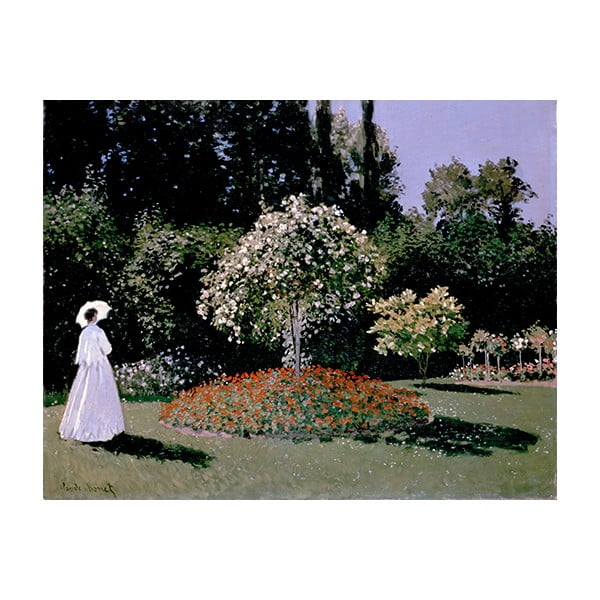 Obraz Claude Monet - Woman in the Garden, 50x40 cm