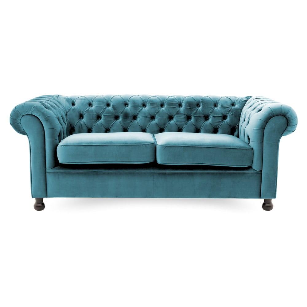 Modrá pohovka pro tři Vivonita Chesterfield Vivonita 4251194913522