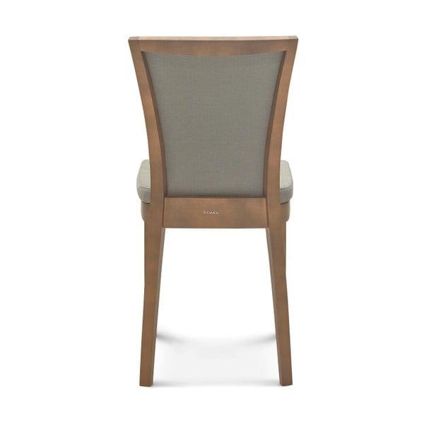 Šedá dřevěná židle Fameg Brandi
