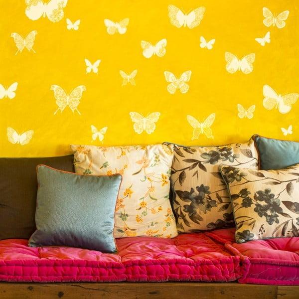 Sada 26 samolepek Ambiance Chic Butterflies White