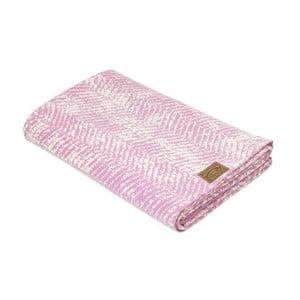Pătură roz Hawke&Thorn Herringbone