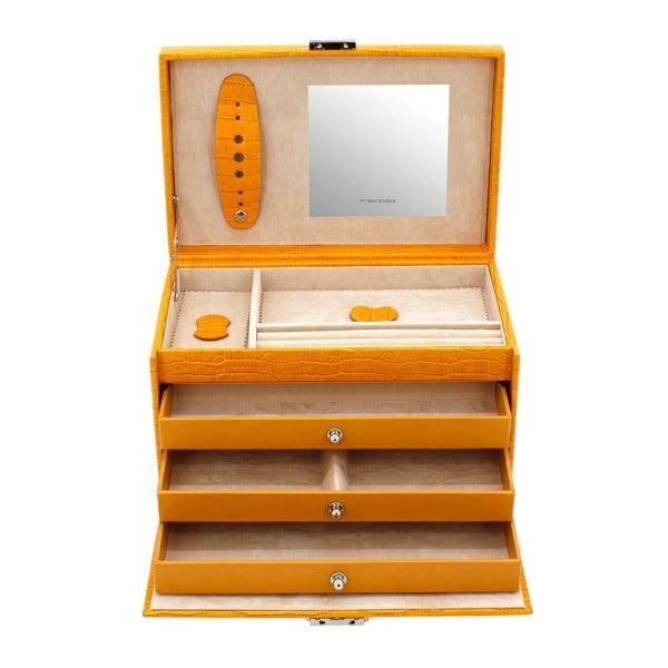Šperkovnice Classico Yellow, 24x15x16 cm