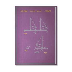 Plakát Wind Surfboard, 30x42 cm