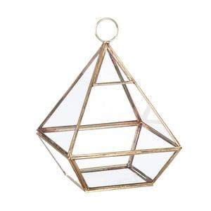 Skleněná vitrínka/květináč Stand Glass Gold, 22 cm