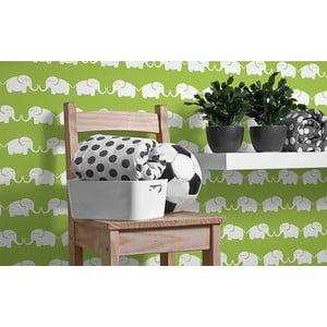 Vliesová tapeta Elephants 270x46.5 cm, zelená