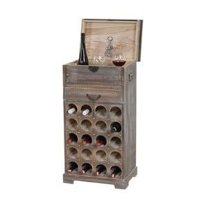 Suport pentru 20 sticle de vin Mendler Shabby, maro