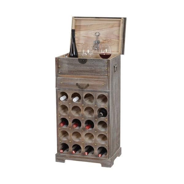 Hnědý stojan na 20 lahví vína Mendler Shabby