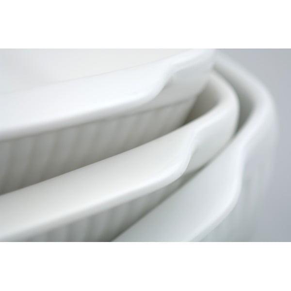 Bílá kameninová zapékací mísa BergHOFF Bianco, 29 x 18 cm