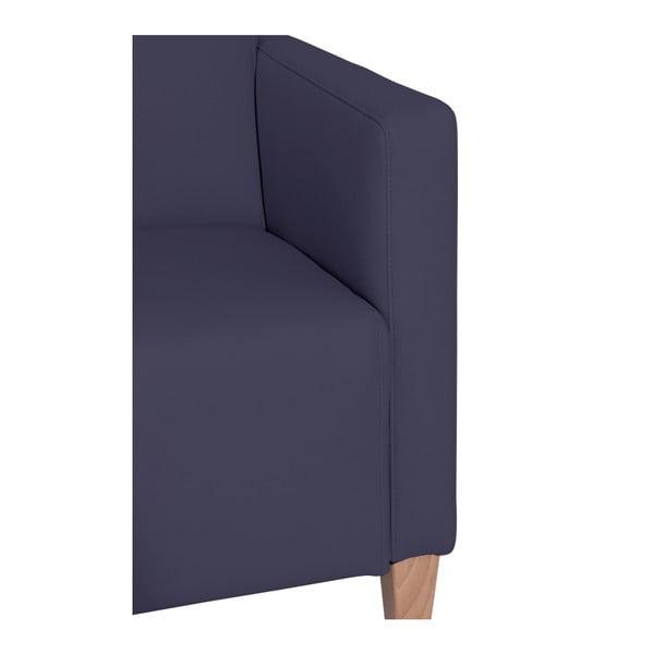 Tmavě modré křeslo Max Winzer Milla Leather Dark Blue