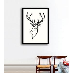 Plakát Royal Stag Deer, ruční práce