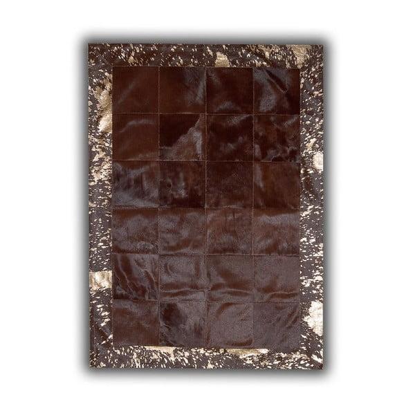 Koberec z pravé kůže Acid Bronze, 140x200 cm