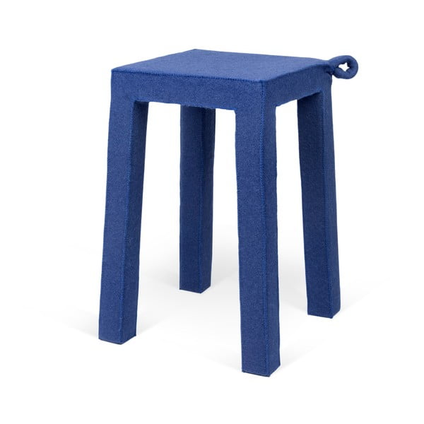 Modrá drevená stolička TemaHome Handle, 30 × 30 x 45 cm