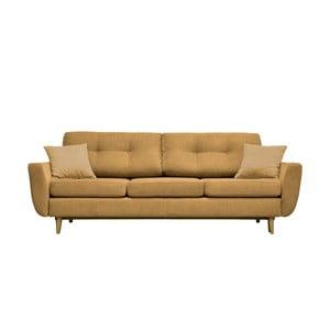 Canapea extensibilă Mazzini Sofas Rose, galben