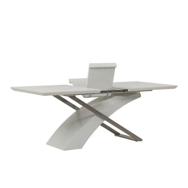Rozkládací jídelní stůl Level, 160-200 cm, bílý