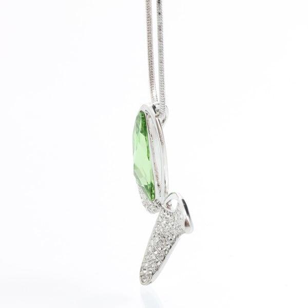 Náhrdelník s krystaly Swarovski a zelenými detailem Elements Laura Bruni Facility