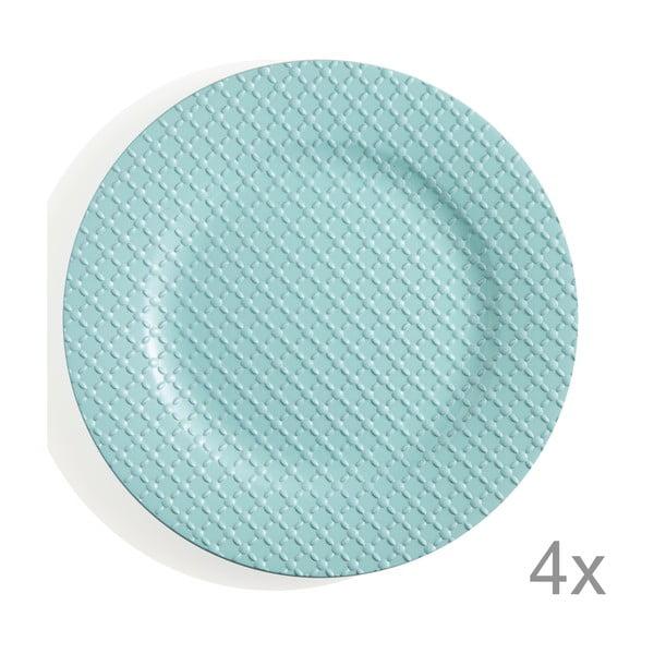 Sada 4 plastových talířů Tiffany