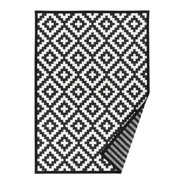 Černobílý vzorovaný oboustranný koberec Narma Viki, 140x200cm