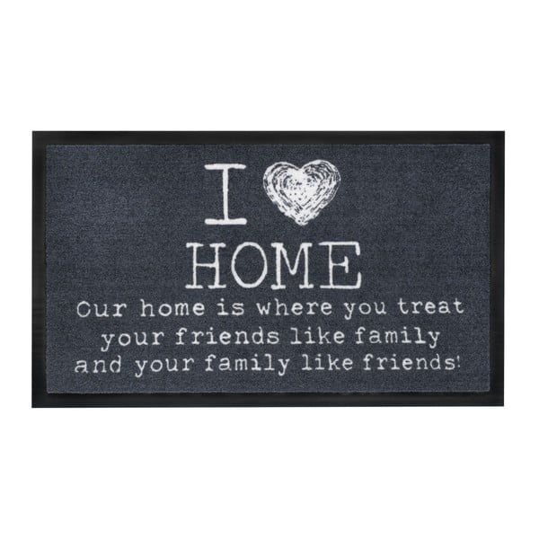 Preș Hamat I Love Home Dark, 45x75cm