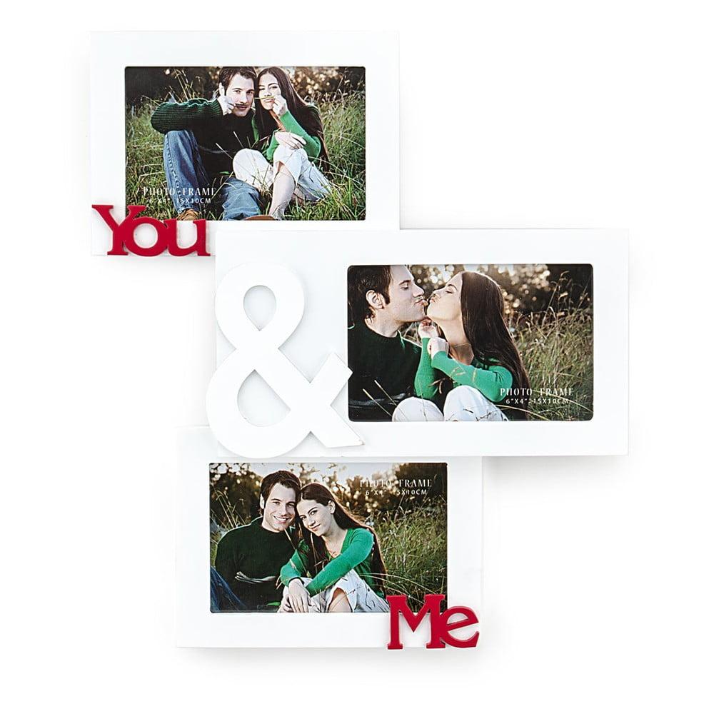 Dřevěný nástěnný fotorámeček Tomasucci You And Me, pro fotografie 10 x 15 cm