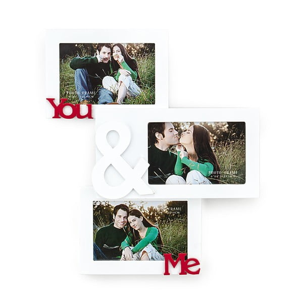 Drevený nástenný fotorámik Tomasucci You And Me, na fotografie 10 × 15 cm