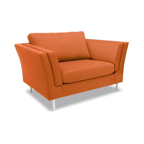 Oranžové křeslo Vivonita Connor