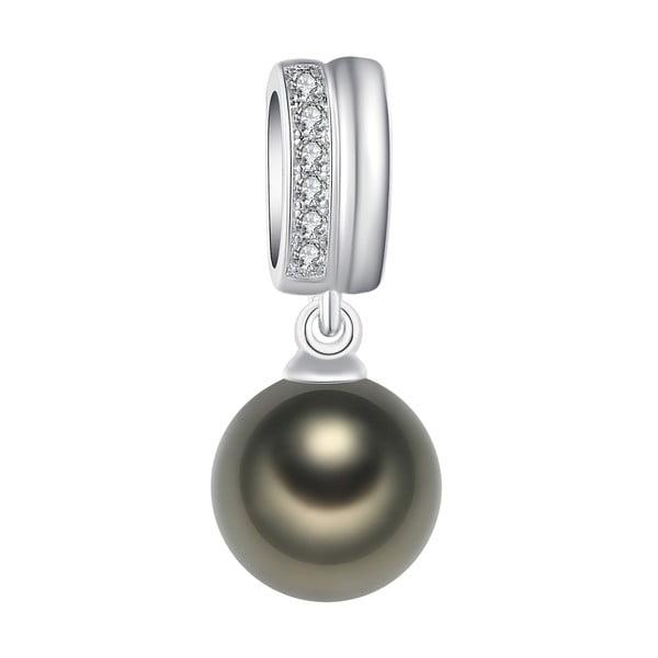 Náhrdelník se světle zelenou perlou Pearls Of London Lady