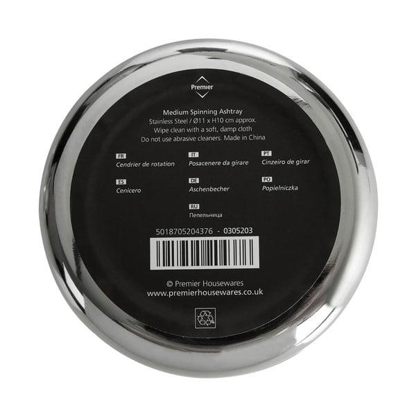 Scrumieră din crom Premier Housewares Spinning Ash, ⌀ 11