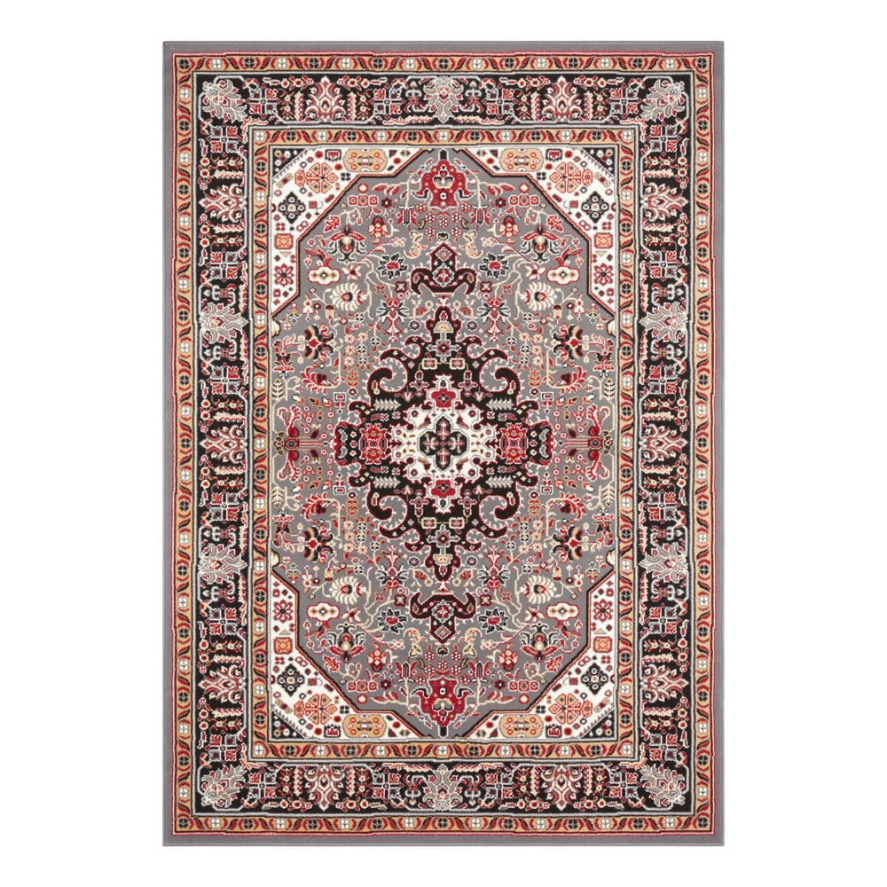 Šedo-hnědý koberec Nouristan Skazar Isfahan, 200 x 290 cm
