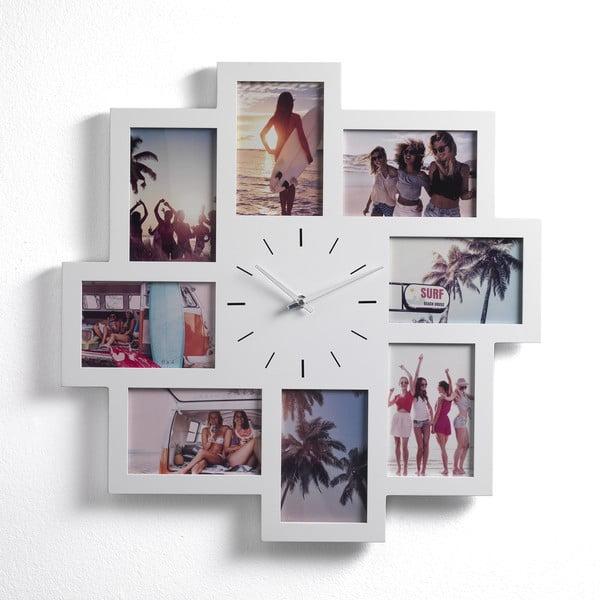 Nástěnný fotorámeček na 8 fotografií s hodinami Tomasucci Olly