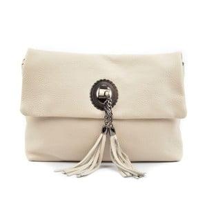 Světle béžová kožená kabelka Roberta M Musso