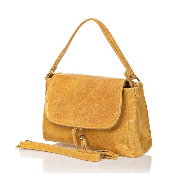 Kožená kabelka Bela, žlutá