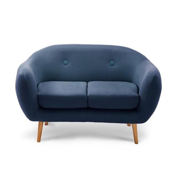 Tmavě modrá dvoumístná pohovka Scandi by Stella Cadente Maison