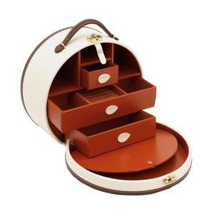 Casetă de bijuterii/suport pentru cosmetice Friedrich Lederwaren Ascot, bej deschis